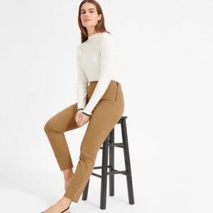 Everlane Side-Zip Stretch Cotton Pants in Ochre